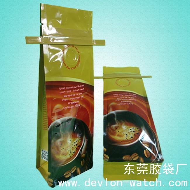 咖啡分包装袋(八边封方底拉链包装袋)