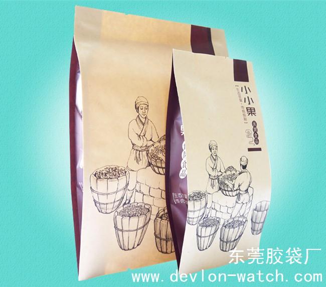 牛皮纸休闲食品包装袋